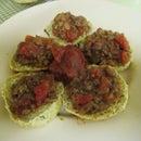 Chimichurri rolls with chili
