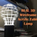 REAL 3D Wireframe Acrylic Table Lamp