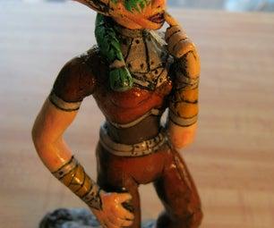 W.O.W Night Elf Rogue Sculpy
