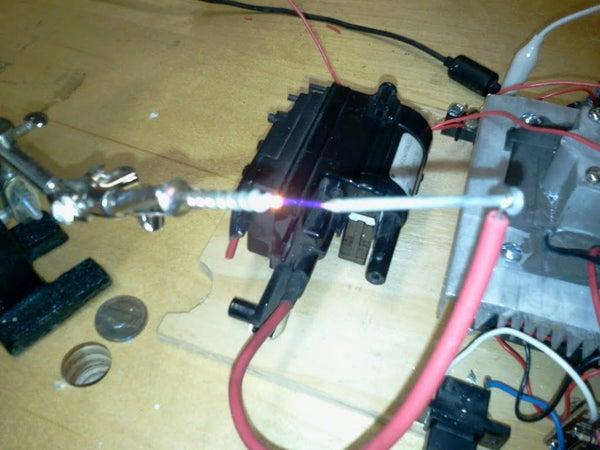 Flyback Plasma Speaker With 555