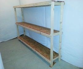 Gargantuan basement or garage shelving unit for $36