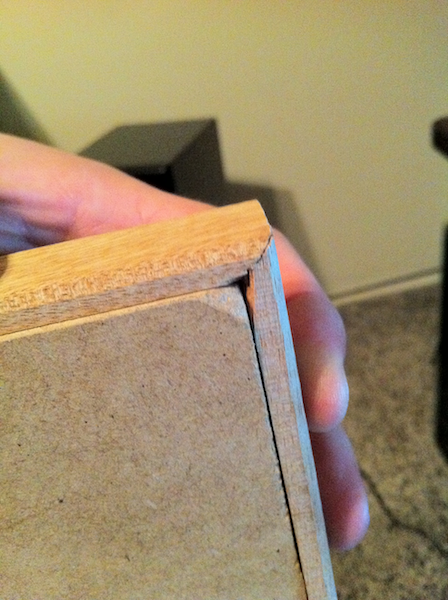 Picture of MDF Edging and Filling