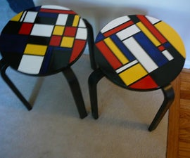 Mondrian Inspired Stool