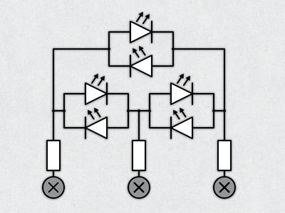 Three LEDs