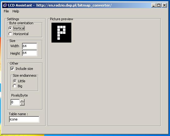 Picture of Convertir Vos Bitmaps Avec LCD Assistant