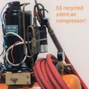Silent Air Compressor Made of Recycled Rubbish!