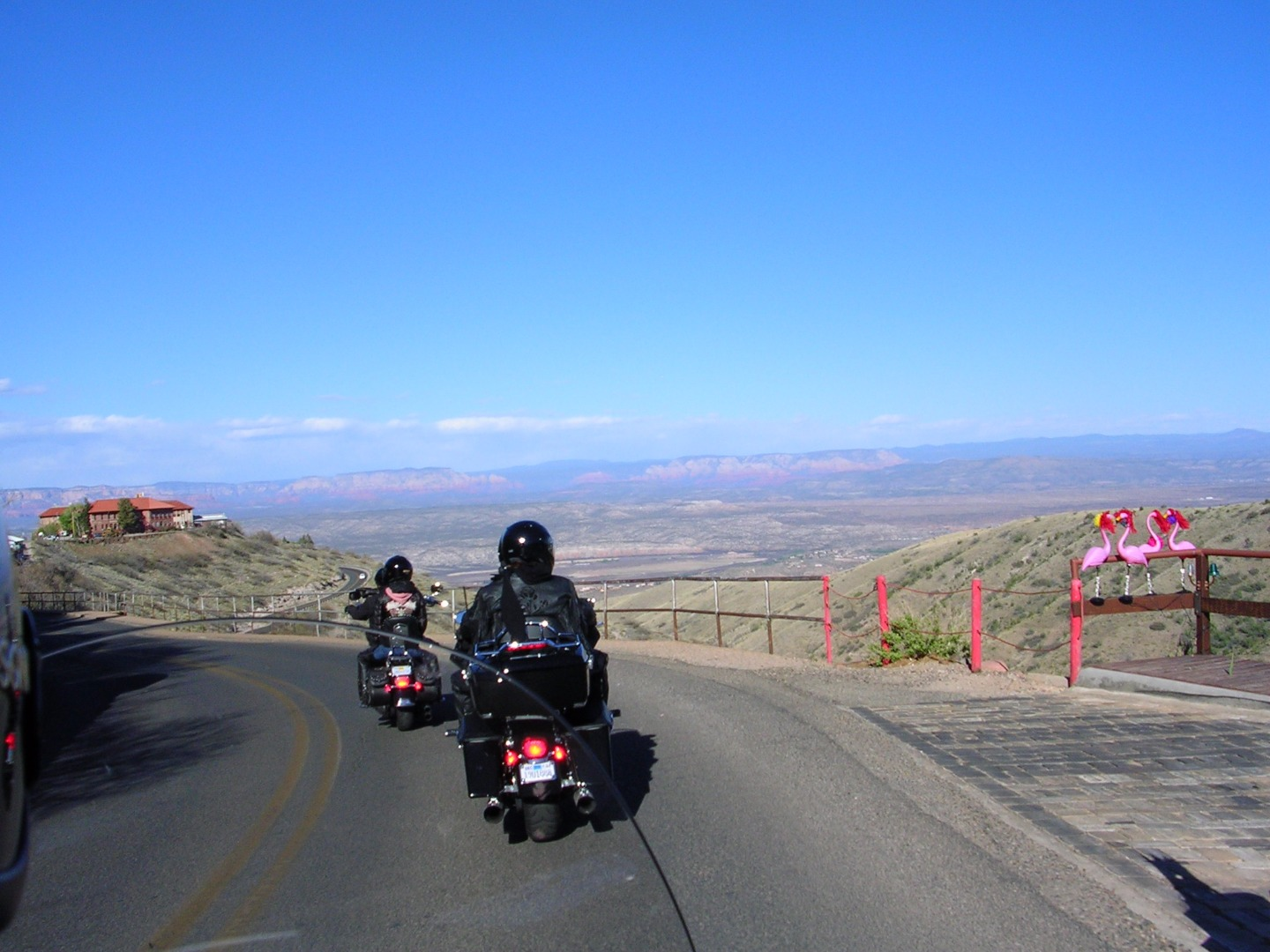 Picture of On the Road While Riding in Groups
