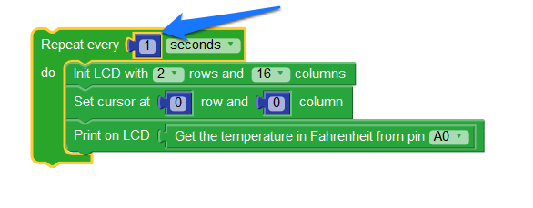 Creating a Loop to Read the Temperature Level Every Second