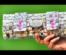 DIY Newspaper Handbag for Daily Use