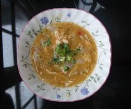 """Brasilian Chicken chowder or """"caldo de galinha"""""""