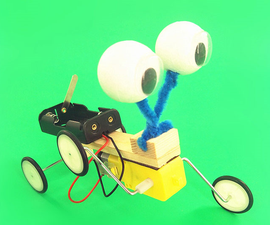 DIY Cute and Lively Big-Big Eyes Robot Toy for Kids