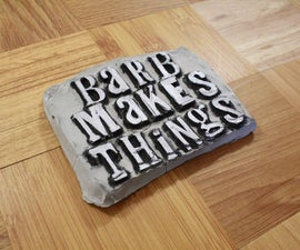 Concrete Letterpress Sign