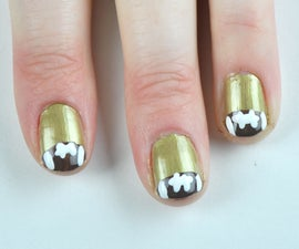 Football French Manicure