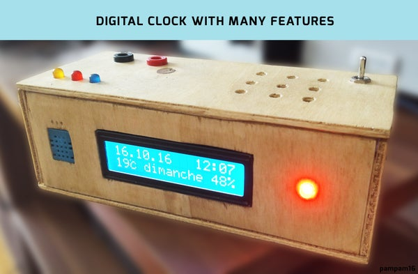 Digital Clock and Humidity/temperature Display