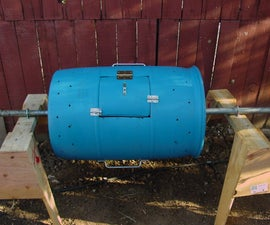 Tumbling portable composter