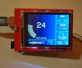 2.4 TFT Arduino Weather Station With Multiple Sensors