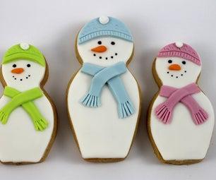 Snowman Matryoshka (nesting Doll) Cookies