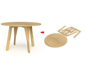 Flat Pack Table Design