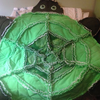 Ry's Green Raggedy Turtle Quilt