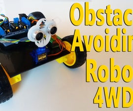 Arduino - Obstacle Avoiding Robot 4WD