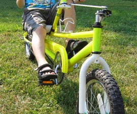 Build a kid's long-wheelbase low racer recumbent bicycle