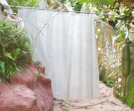SHOWER CURTAIN -- Silicone and Glass Fiber Mat