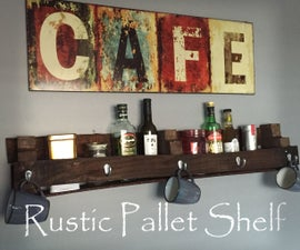Rustic Pallet Shelf - With Scrap Wood