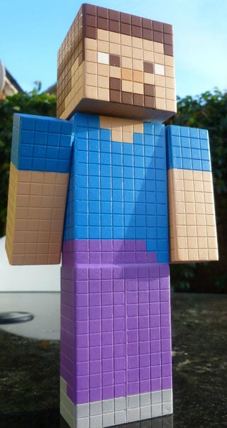 Minecraft Steve Model With Bonus Double Chest 20 Steps With Pictures Instructables