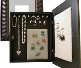 How to make a wall mounted jewelry organizer