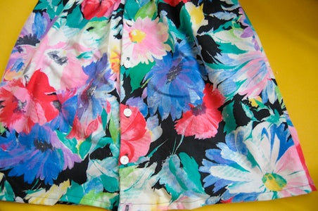 Summer Skirt Made From a Vintage Blouse