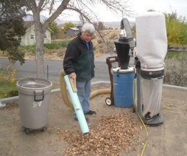Lawn Vacuum System Using Woodshop Equipment