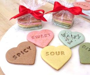 Stamped Heart Shortbread Cookies