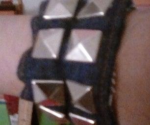 Make a Punk Rock-style Studded Bracelet From a Scrap Jacket Cuff (any Size!)