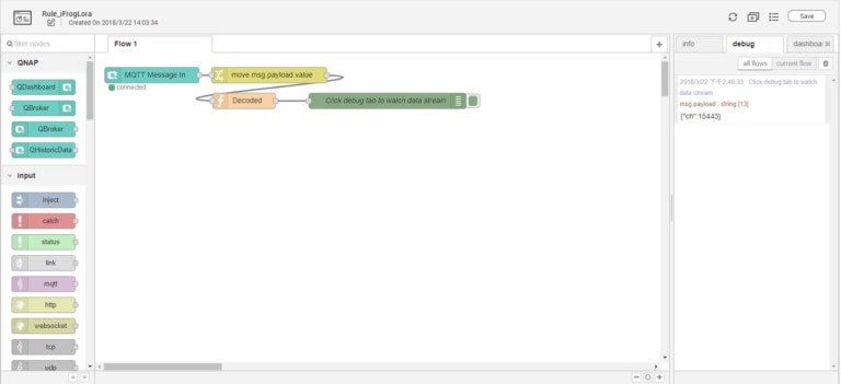 HOW TO CONNECT IFROG LORA GATEWAY TO QNAP QIOT SUITE LITE