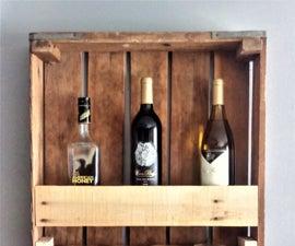 BCW Reclaimed Wine Shelf/Rack