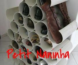 Sapateira de Canos de PVC (PVC Pipe cabinet)