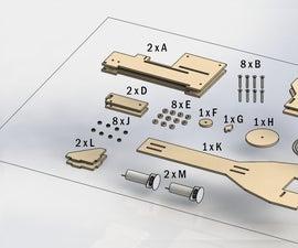 Lasercut Plywood Pulley Cran