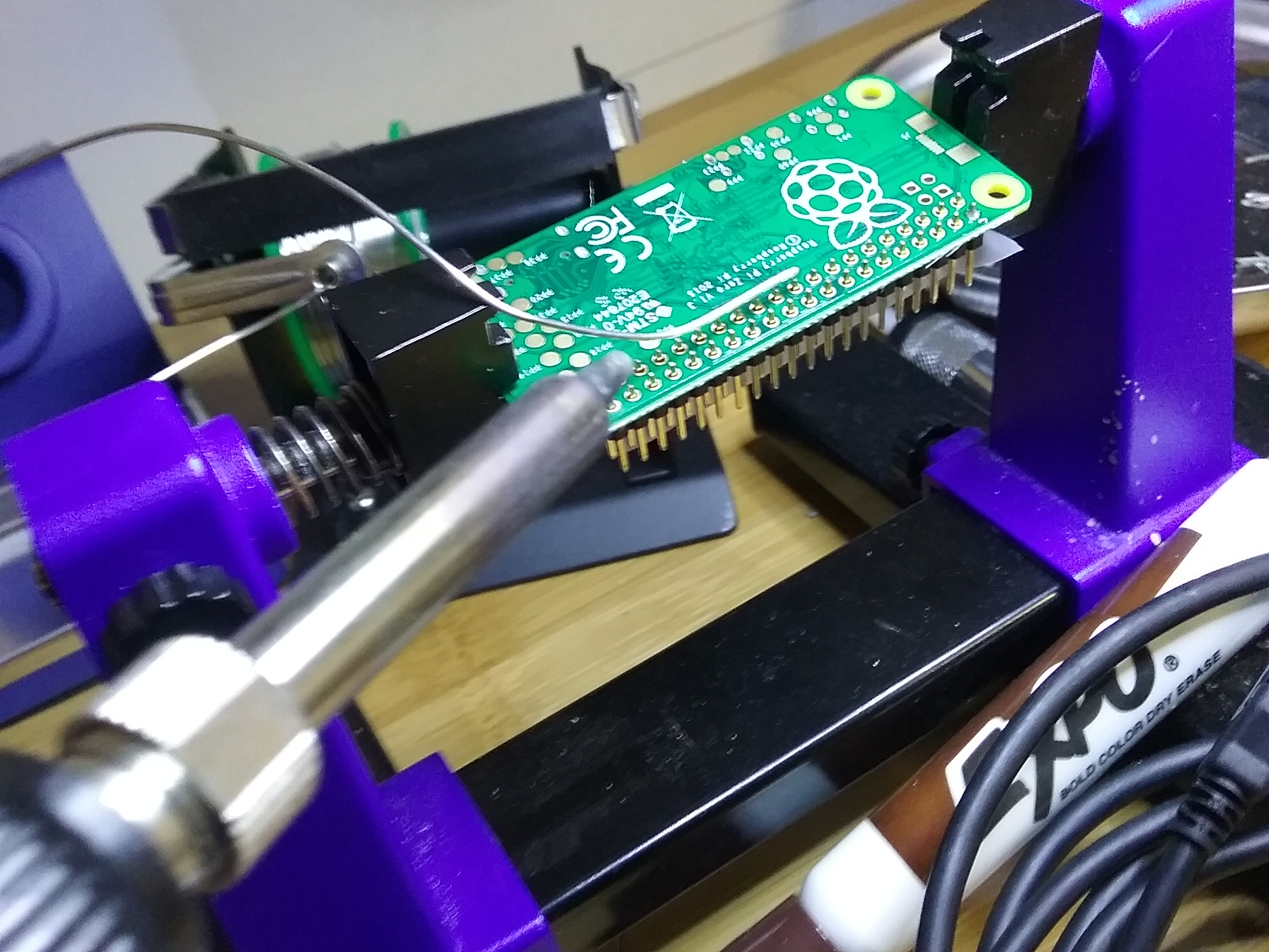 Picture of Solder the Header to the Pi