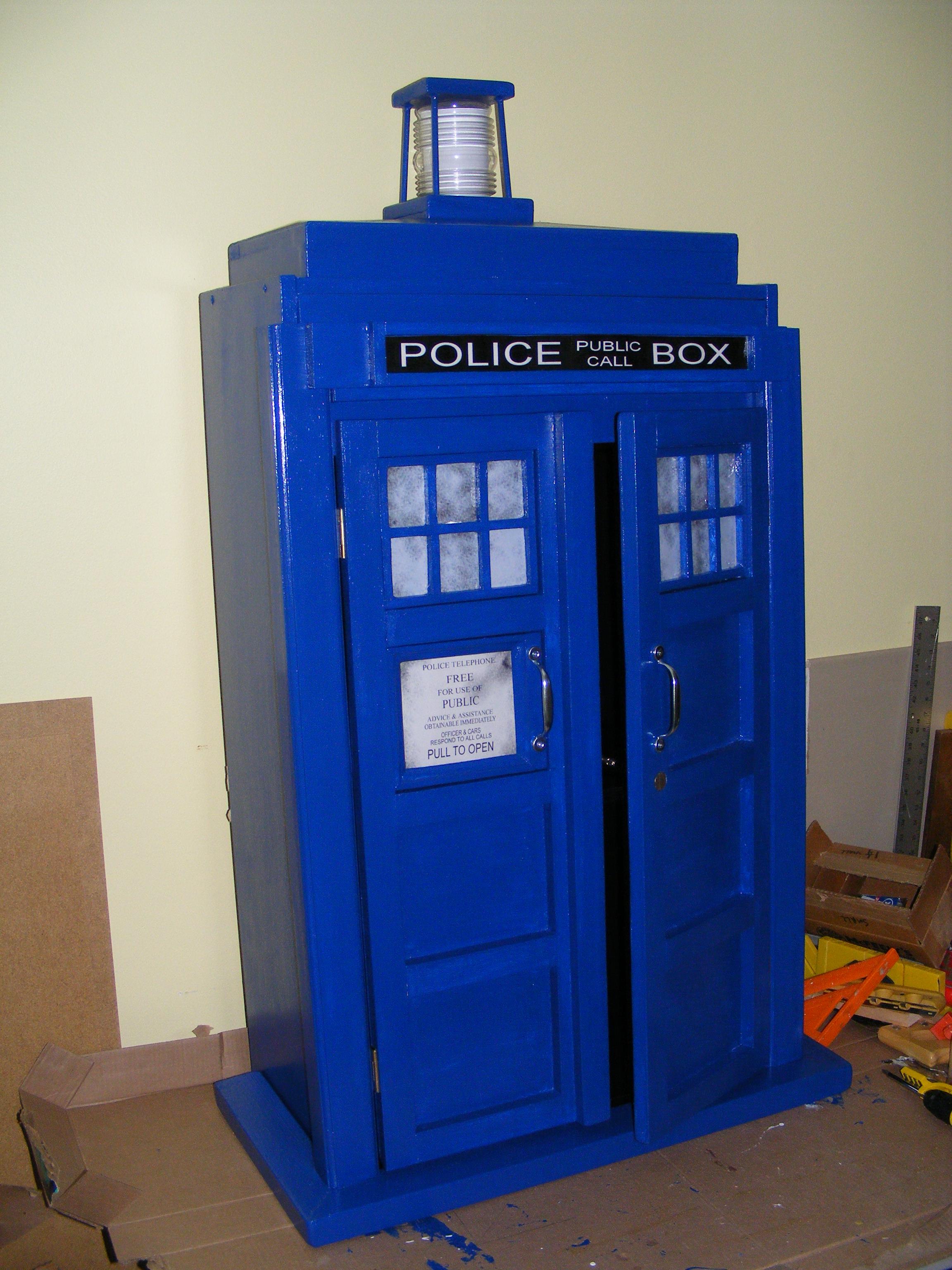 Picture of TARDIS Bookcase Cupboard - Goodhart Maker Den of Unequity Storage Cabinet
