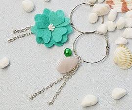 Beebeecraft Ideas on How to Make Personalize Felt Flower Dangle Earrings