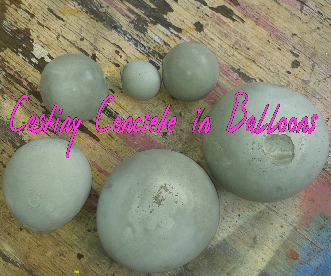 Picture of Casting Concrete in Balloons