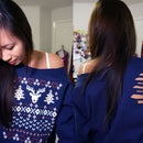 Christmas Tree Sweatshirt Cut Out