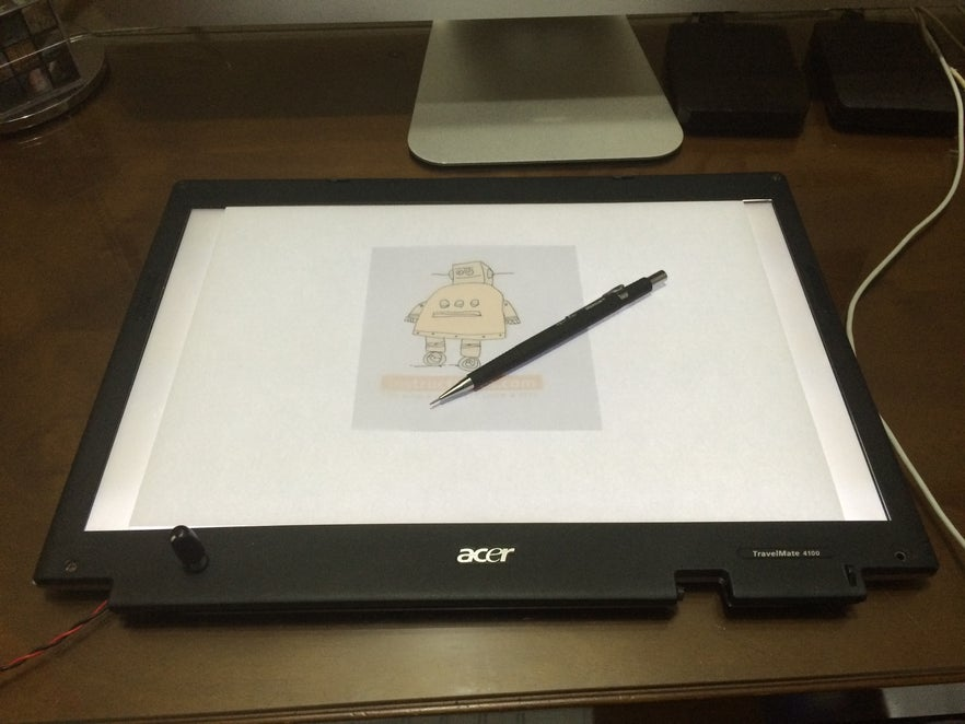Turn A Broken Laptop Screen Into A Portable Light Table For Drawing 14 Steps With Pictures Instructables
