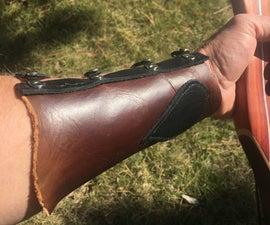 Leather Archery Wrist Guard