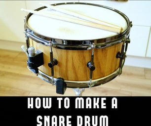 How to Make a Stave Snare Drum!