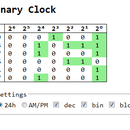 Binary Clock in ECMA/JS