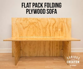 Flat Pack Folding Plywood Sofa