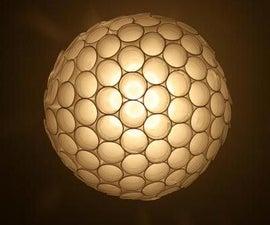 Coffee cup sphere lamp