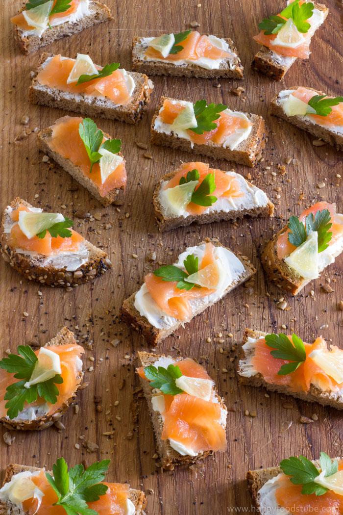 Picture of Easy Smoked Salmon Bites