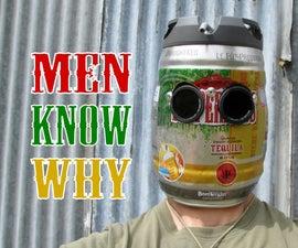 Very Manly Beer Keg Welding Helmet